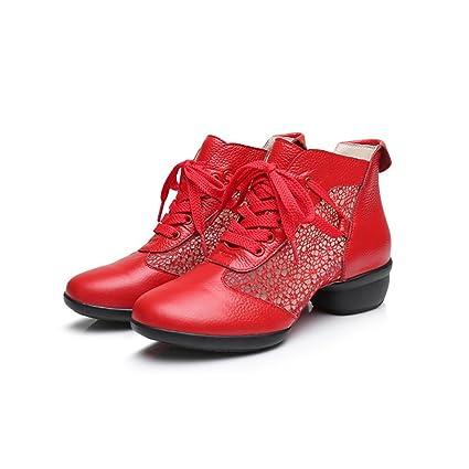 XUE Scarpe da Donna Moderne Scarpe da Ballo Lucide Scarpe Stringate in  Pelle  2bd8573d0eb