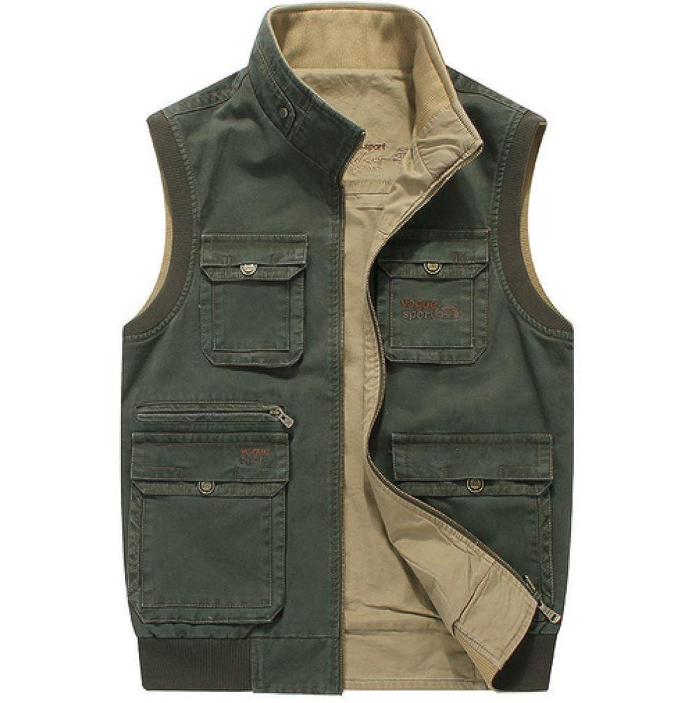 GEDTFC Outdoor Freizeit Fotografie Fischen Klettern Multi-Pocket Cotton Jacket Weste B071KC339Y Jacken Sehr praktisch