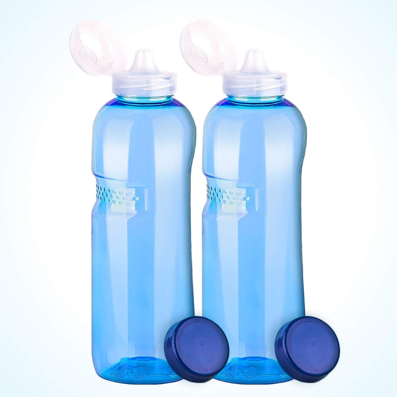 Wassersprudler Wasserhahn, 2 x Trinkflasche 1L mit Sportdeckel Wasserflasche aus Tritan (Bisphenol A frei), Wassersprudler kaufen