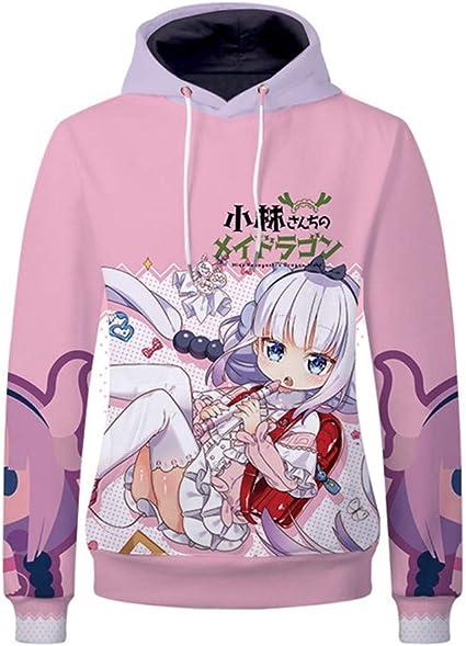 Cosstars Miss Kobayashis Dragon Maid Anime Sweat-Shirts /à Capuche Adulte Cosplay 3D Imprim/é Hoodie Sweatshirt Pulls Manteaux Veste