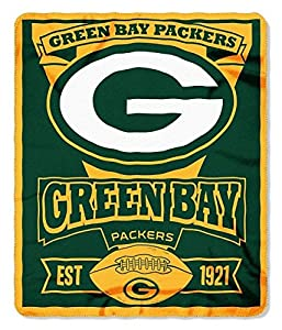 NFL Green Bay Packers Marque Printed Fleece Throw, 50