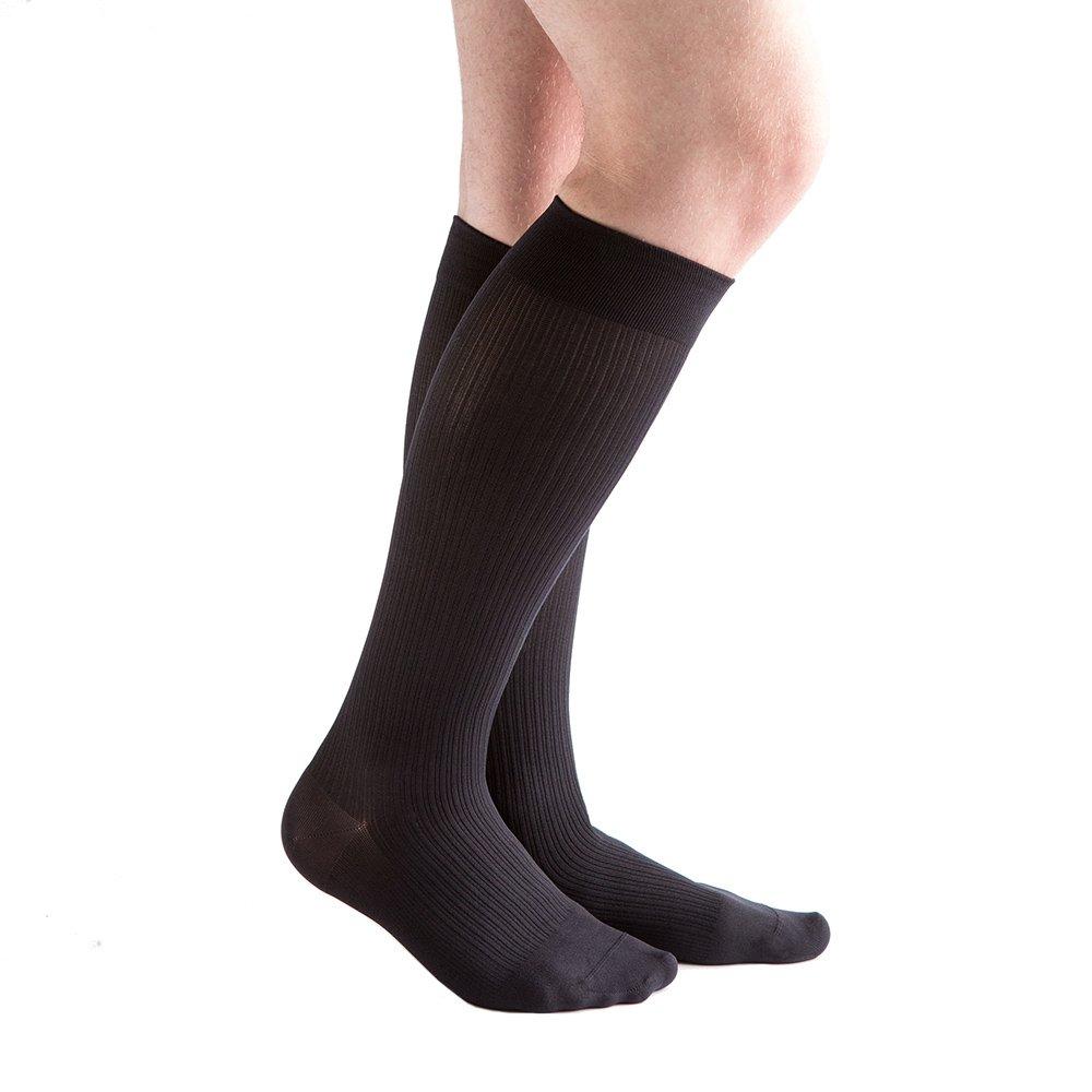 VenActive Mens 20-30 mmHg Compression Socks, Classic Rib by VenActive