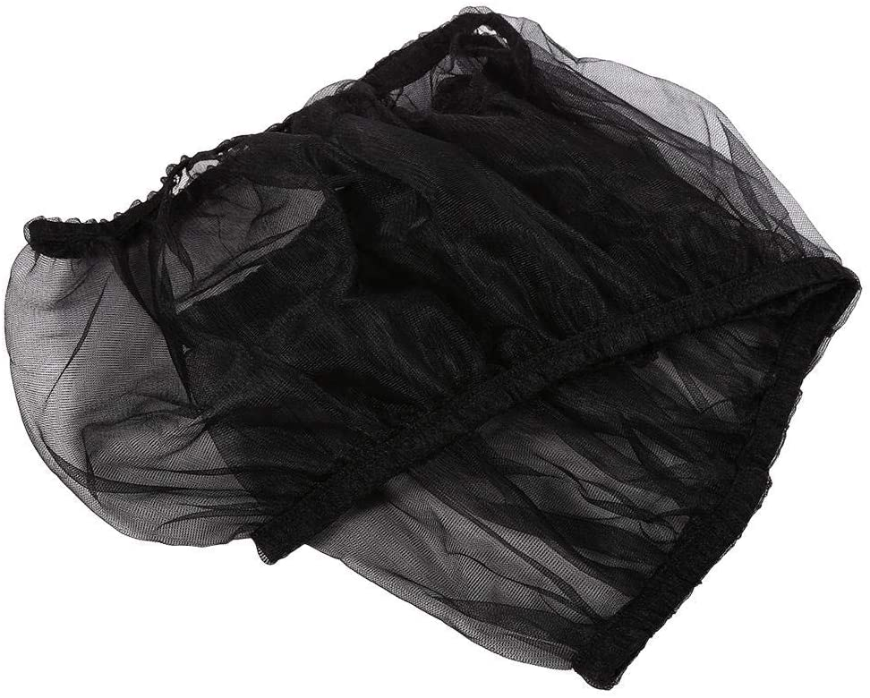 Black Bird Cage Cover Ventilated Nylon Bird Seed Catcher Shell Seed Catcher Pet Products Eliminate Messy Seed Scatter