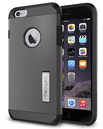 official photos 05e59 29879 iPhone 6 Plus Case, Spigen Tough Armor iPhone 6 Plus Case with Kickstand  and Extreme Heavy Duty Protection and Air Cushion Technology for iPhone 6S  ...