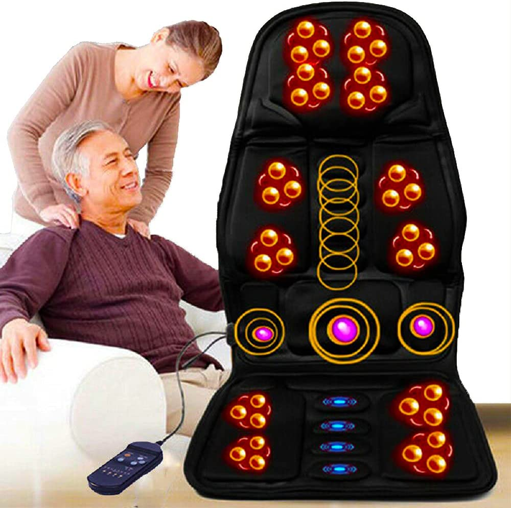 ALUCE Shiatsu Back Massager with Heat - Massage Chair Pad Deep Kneading Full Back Massager Massage seat Cushion for Home Office use-Black
