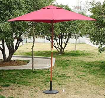 Outsunny Pack 2 Sombrillas Parasol Patio Terraza Jardin Diametro 2 ...