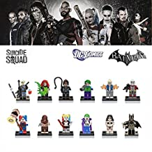 ABG toys 12 Minifigures DC COMICS Batman, Batman Catman, Pajamas Batman, Catwoman, Red Hood, Harley Quinn, Bargirl, Robin, Poison Ivy, Joker Batman, Riddler, The Joker Building Blocks Sets Toy