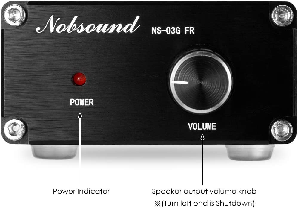 Nobsound 100W Full Frequency Mono Channel Digital Power Amplifier Audio Mini Amp Home Speaker with Power Supply Black