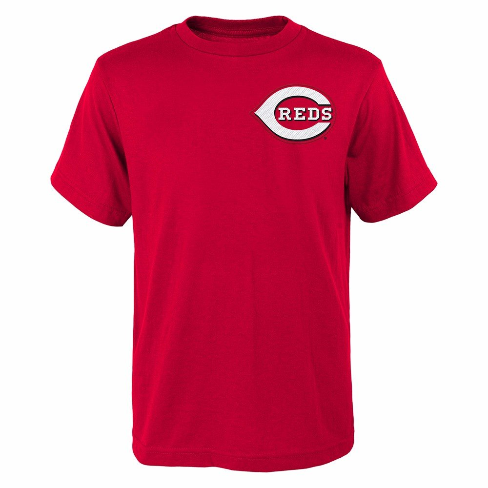 newest c1f78 27973 Majestic Aroldis Chapman Cincinnati Reds MLB Youth's Red Player Name &  Number Jersey T-Shirt