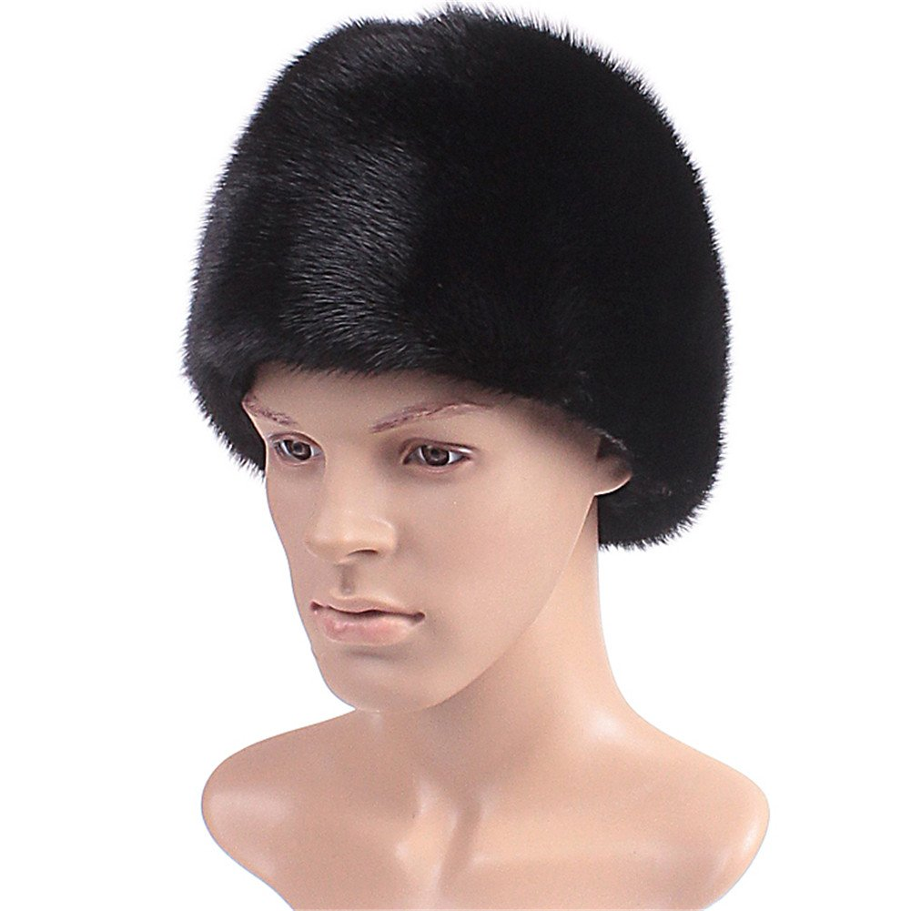 Roniky Men's Whole Set Mink Full Fur Russian Cossack Hat