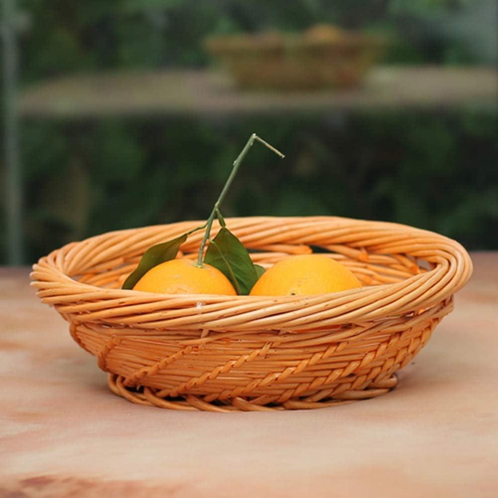 DYMY Caja de mimbre cesta de ratán grande caja contenedor Snacks cestas con tapa para casa 30 * 19 * 8cm c: Amazon.es: Hogar