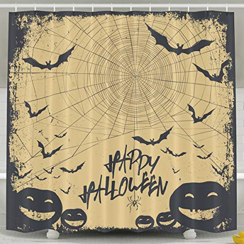 Silinana Halloween Background 6072 Inch Bathroom Shower Curtain Set Waterproof Mold and Mildew Resistant Bath Curtain Fabric Polyester for Bathroom Decoration ()