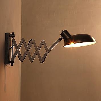 Vintage Applique Murale Industrielle Vent Rétractable Mur Lampe