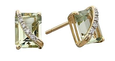 88e30f0975c4 Elements Gold Pendientes de botón Mujer oro amarillo - GE2185G  Amazon.es   Joyería