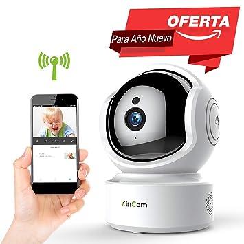 Cámara de Vigilancia KinCam Cámara de Seguridad Inalámbrica 1080P Cámara IP de Vigilancia Doméstica WiFi para Bebés/Personas Mayores/Mascotas/Niñeras ...