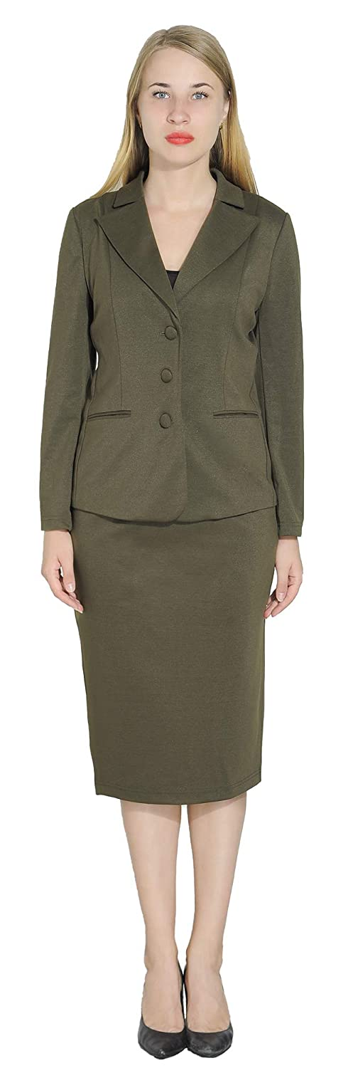 Marycrafts Women's Skirt Suits Work Business Bixgo