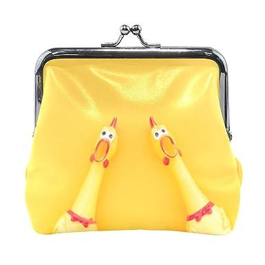 UNISE Monedero de piel sintética con diseño de pollo, estilo ...