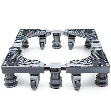 Base Multifuncional Ajustable Base Lavadora Base Ajustable Móvil Multifuncional Con 4 Ruedas Giratorias De Goma Y 6 Pies Fuertes Caja Móvil Carro Móvil Para ...