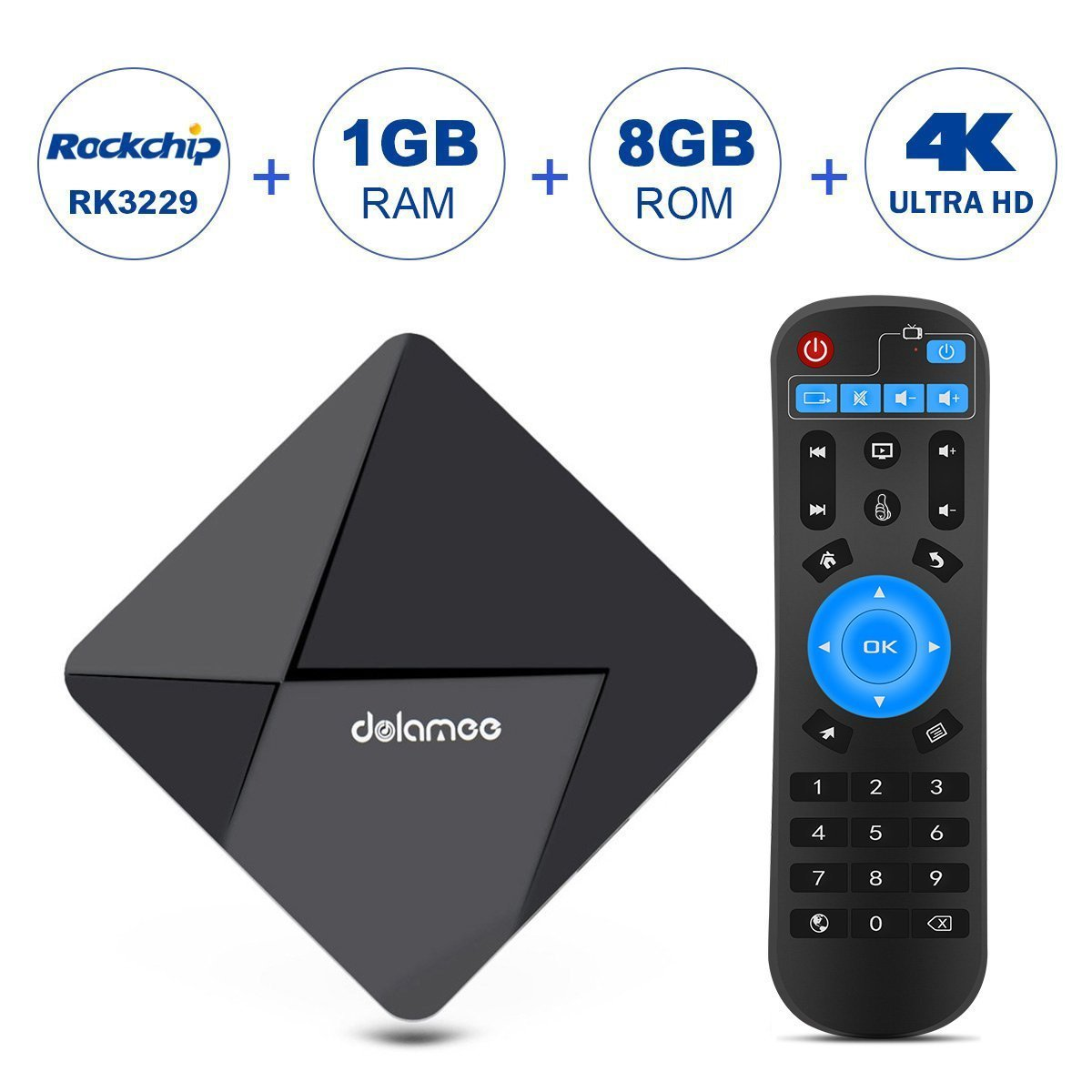 DOLAMEE D5 Android TV Box RK3229 Quad Core 32Bits with 1GB