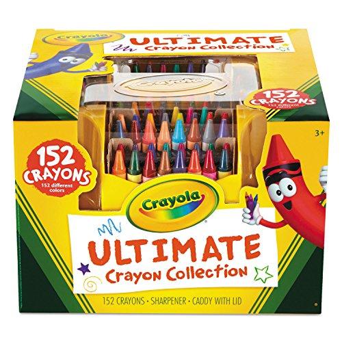 Crayola Ultimate Crayon Caddy with Lid and Sharpener, 152 Crayons (520030)
