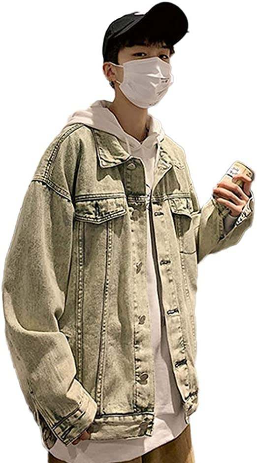 [YUANYUAN] 春と秋の服 コート メンズジャケット デニムジャケット メンズデニムジャケット ジャケット メンズジャケット 春と秋の 男性 韓国風 デニムジャケット ツーリング アウタートレンド