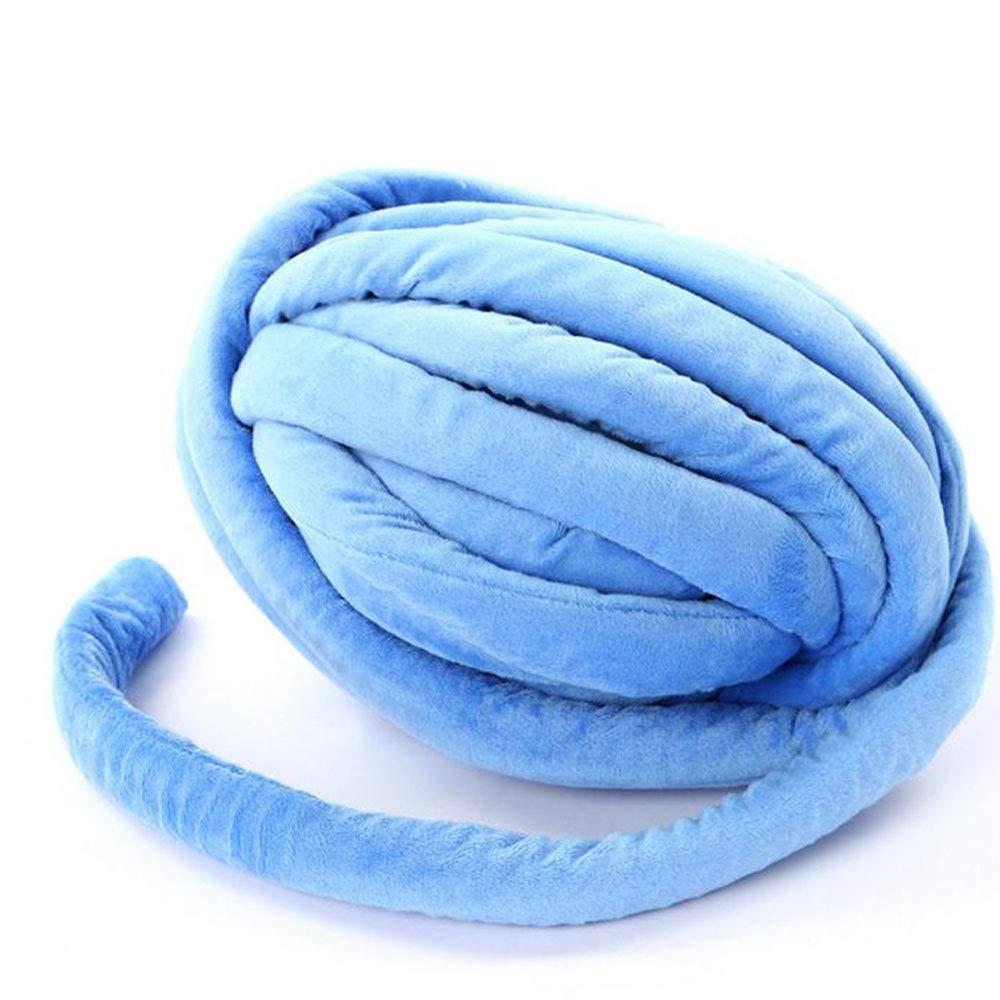 Amazon.com: Ovillo de hilo de algodón trenzado azul vegano ...