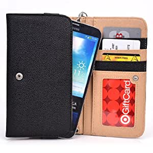 Women's Smartphone Wallet with Hand Strap fits LG D838 G Pro 2 TD-LTE (LG B1)