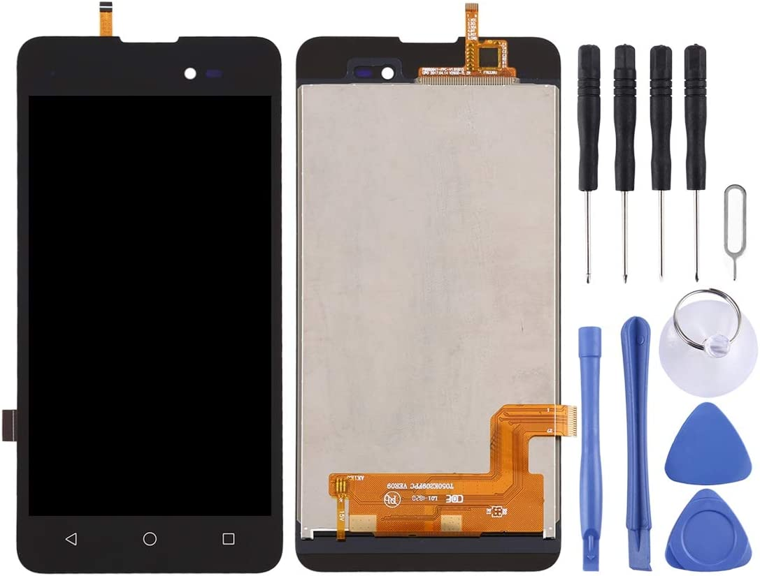 Black LCD Screen Mobile Phone and Digitizer Full Assembly for BQ BQ-5500L Advance Color : Black