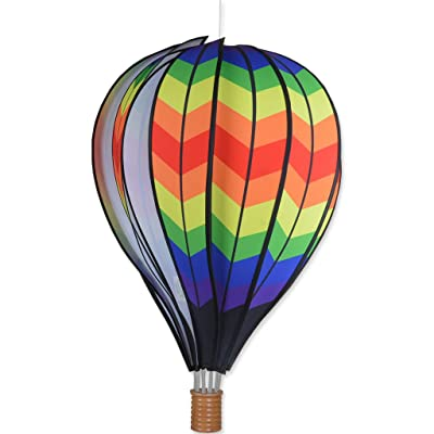 Premier Kites 22 in. Hot Air Balloon - Double Chevron Rainbow: Sports & Outdoors