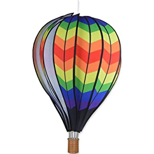 Premier Kites 22 in. Hot Air Balloon - Double Chevron Rainbow