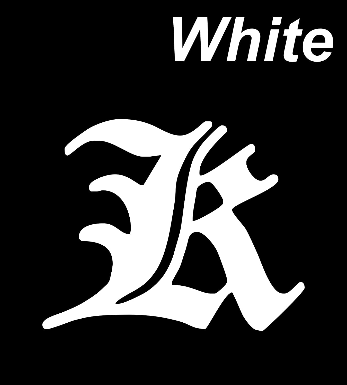 Amazon com decal vinyl sticker k font alphabet engli 11 8 x 8 3 white car bike decals stickers automotive