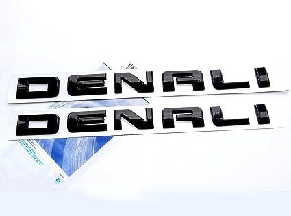 2x OEM Denali Nameplate Emblem HD Badge for Gm 07-16 Yukon Sierra Terrain chrome