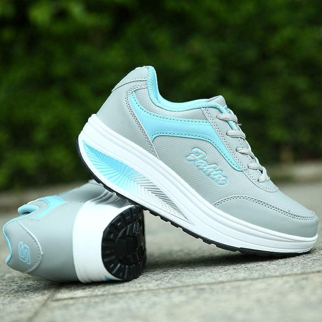 Fgertt Chaussures dAthl/étisme Femme Mode aux Plate-Forme /Respirant Baskets Chaussures d/écontract/ées Chaussures de Course pour /étudiants Chaussures de Running 35-42EU