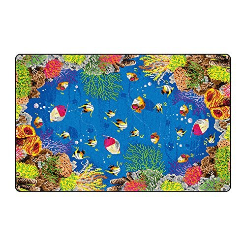 Educational Area Rugs (Underwater Counting 5'10 x 8'4) [並行輸入品]   B07HLG8G12