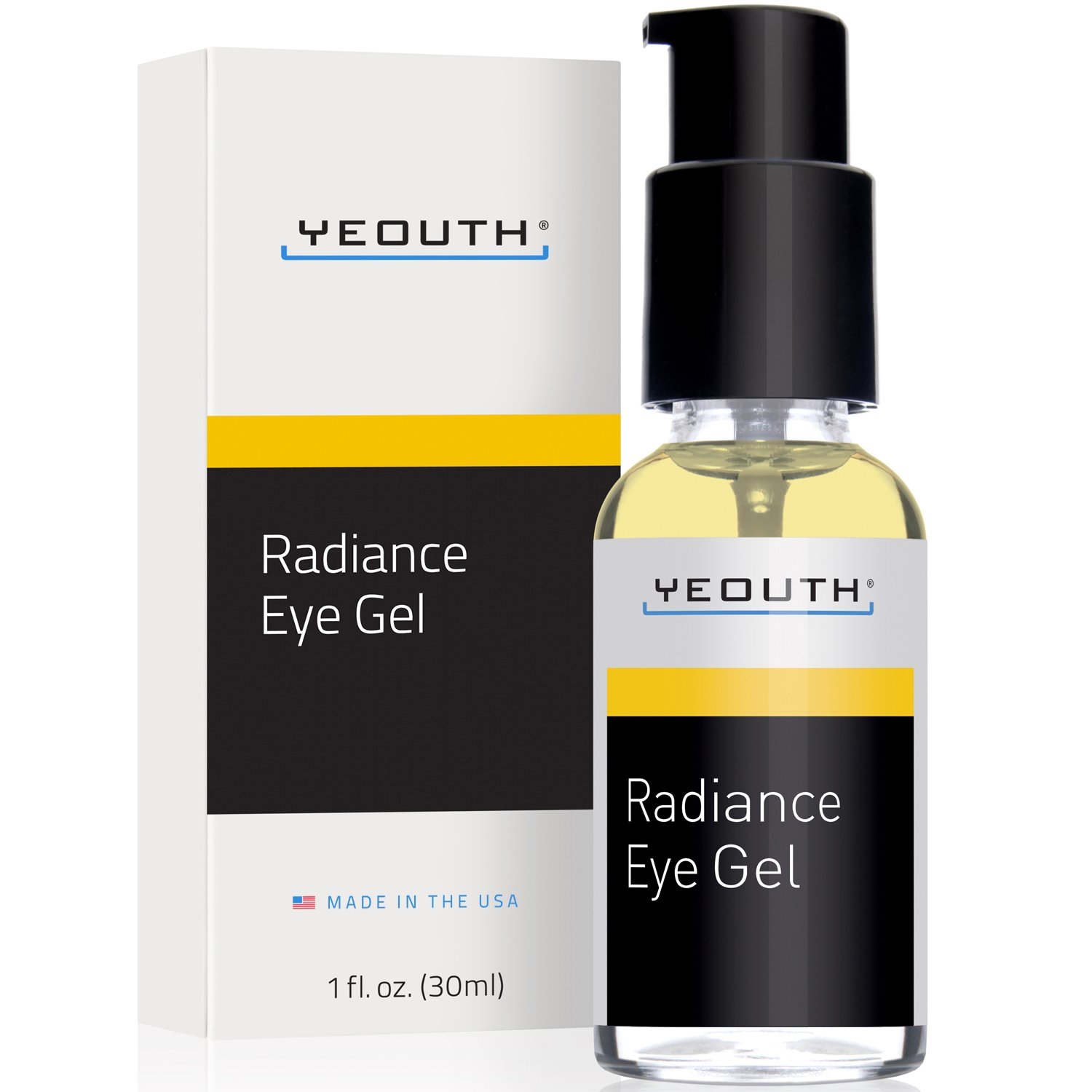 YEOUTH Eye Gel with Hyaluronic Acid - Dark Circles Under Eyes, Eye Bags, Anti-Wrinkle, Crows Feet, Redness on Face - Best Eye Cream for Anti Ageing with 100% Money Back Guarantee, Large Size 30ML