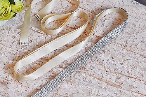 Sash Dress Sash ULAPAN 2 Black Diamonds Belt Wedding S19 Bridal Belt Crystals Women's tqXXg8Ww