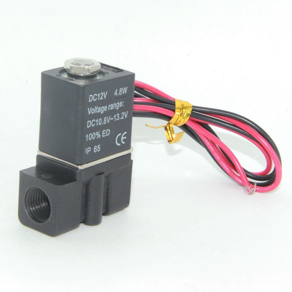 Almencla 12V DC Directamente Accionada Normal Cerrada 1//41//8 Electrov/álvula para Hilo 1-4 5-80 ℃