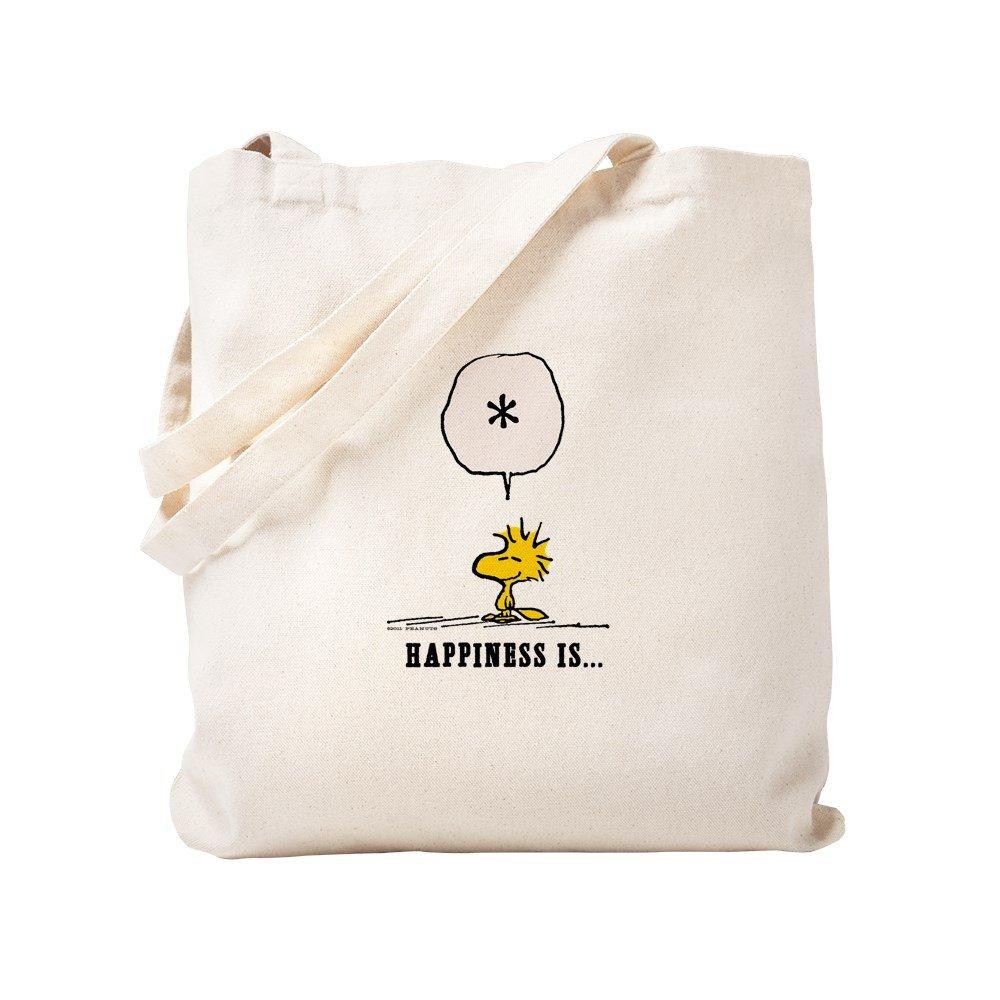 CafePress – ウッドストックHappiness Is。。。 – ナチュラルキャンバストートバッグ、布ショッピングバッグ S ベージュ 0644686496DECC2 B07848QXT7 S