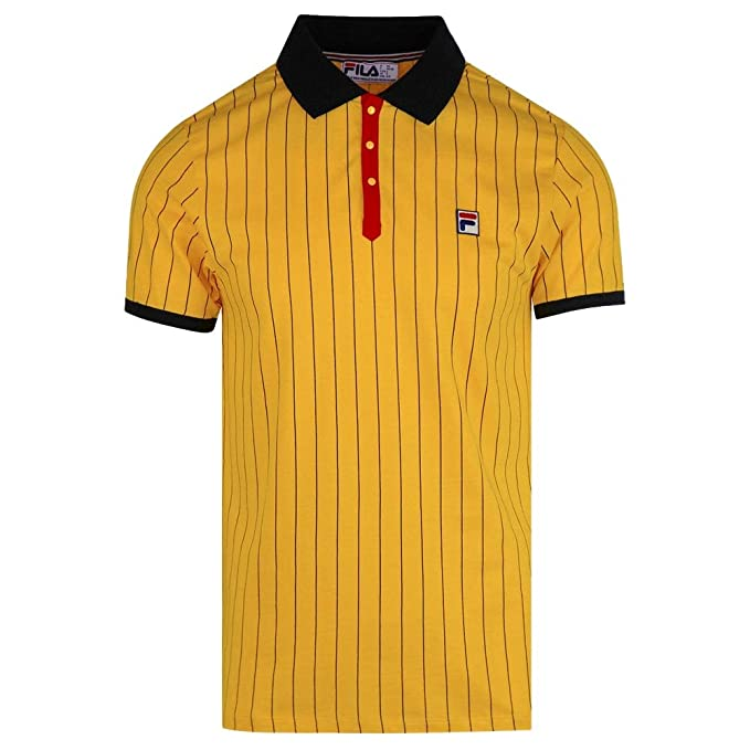 Fila Vintage BB1 Polo Shirt | Gold Fusion/Black/Chinese Red ...