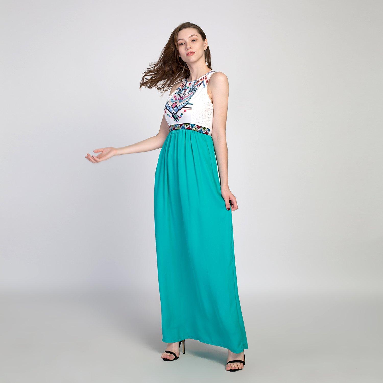 Chen Women Summer Boho Long Maxi Evening Party Dress Sleeveless ...