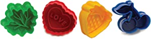 Norpro Pie Topper Cutters Cookie Stamp, Set of 4, Multicolored