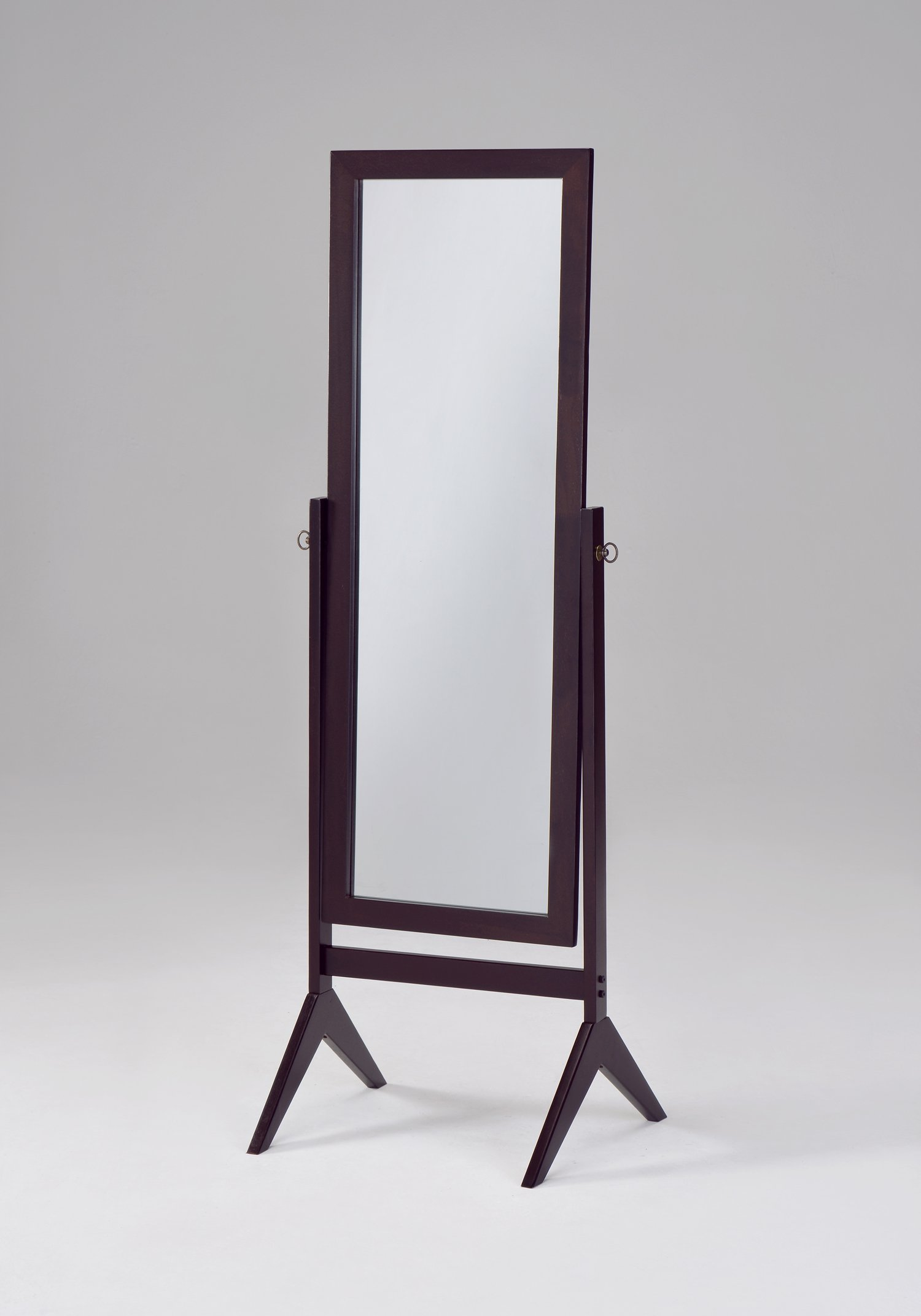 Espresso Finish Wooden Cheval Bedroom Floor Mirror by eHomeProducts