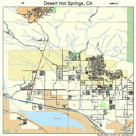 Desert Hot Springs California Map.Amazon Com Large Street Road Map Of Desert Hot Springs