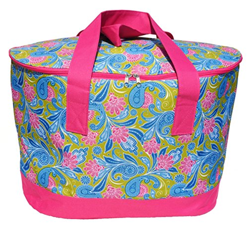 Extra Large Pink Green Insulated Picnic Lunch Reusable ...