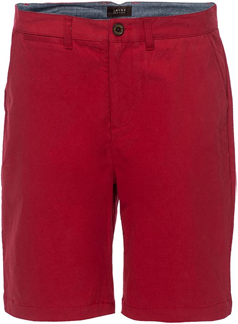 Red Stretch Chino Short