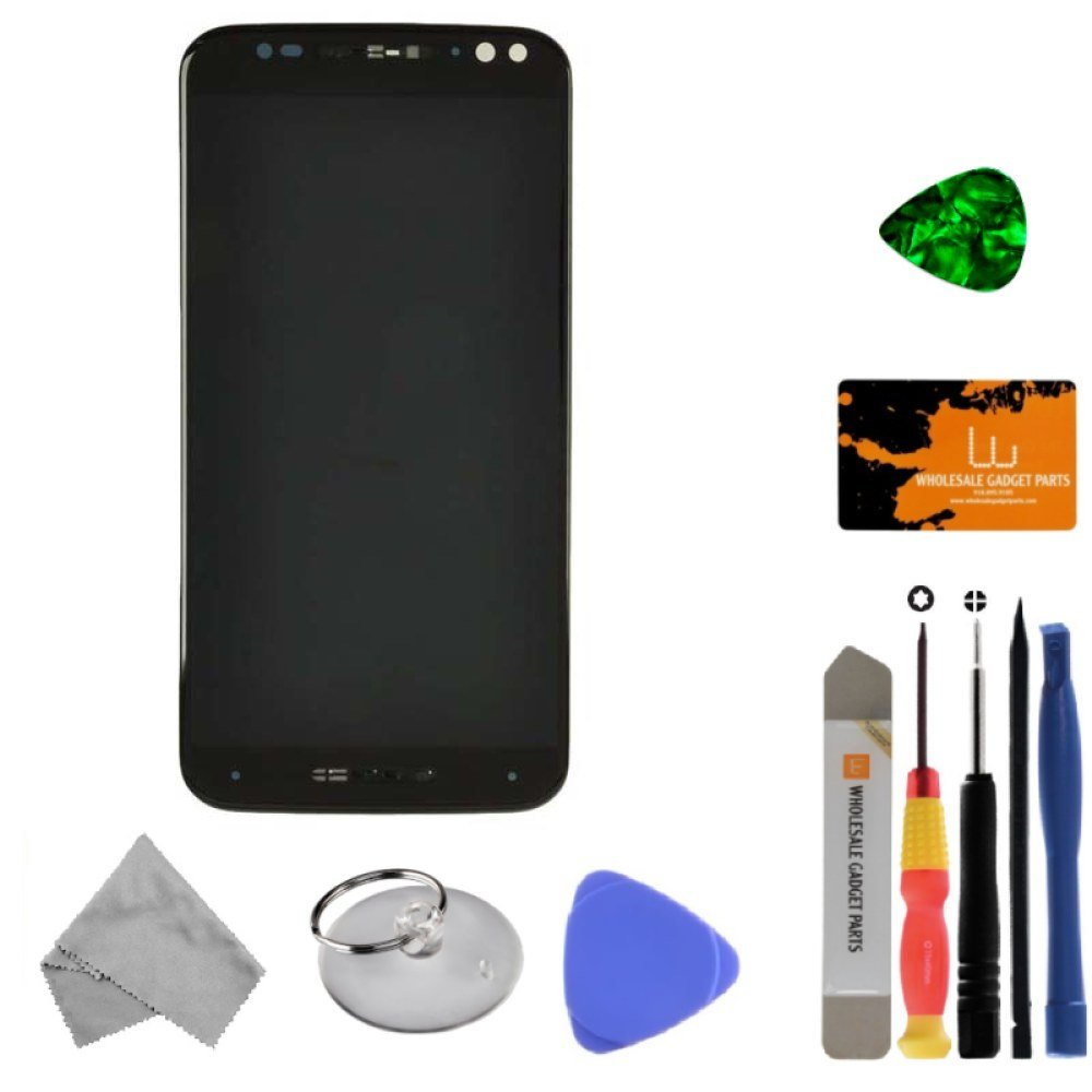 LCD, Digitizer & Frame Assembly for Motorola XT1570, XT1572 Moto X Style, XT1575 Pure (Black) with Tool Kit