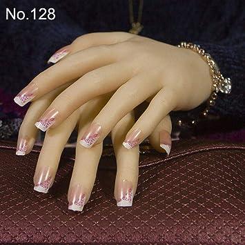 24pcs / set 3D uñas lindas falsas de la novia uñas postizas ...
