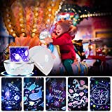 Musical Night Light, 360 Degree Rotating Star Light Projector for Kids Romantic Decorative Lighting Gift for Baby Kids Adults Bedroom, Birthday, Nurse