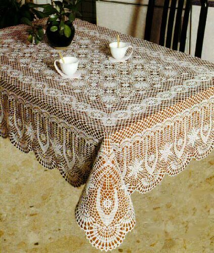 Merveilleux Amazon.com: Tablecloths, Vinyl Crochet, White (60x90 Inches Rectangular):  Home U0026 Kitchen