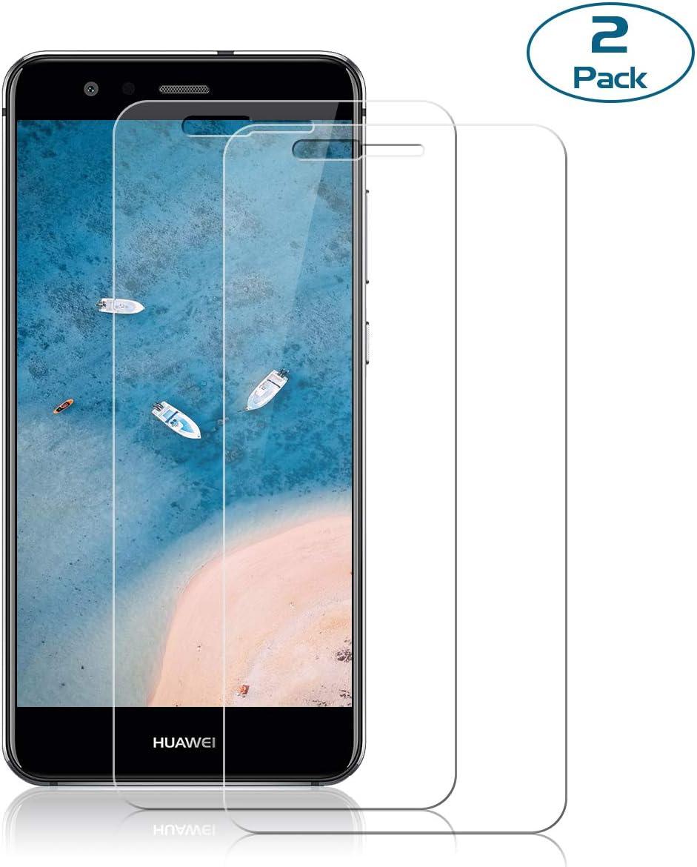 NONZERS [2 Unidades] Cristal Templado para Huawei P10 Lite,Protector de Pantalla para P10 Lite,Alta Definición, Sin Burbujas, No se despega